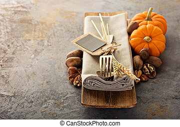Cooking and eating in fall season