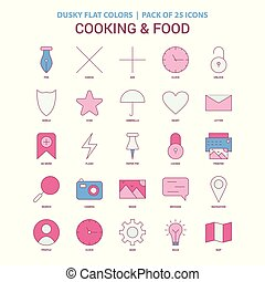 Cooking and Food  icon Dusky Flat color - Vintage 25 Icon Pack
