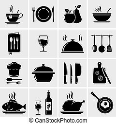 Cooking and kitchen icons