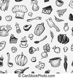Cooking and kitchen tools. - Kitchen pattern. Cooking ...