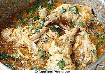 Cooking balti chicken - Basic balti chicken, freshly...
