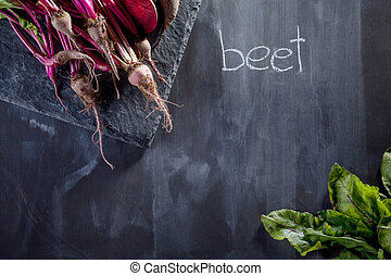 Cooking beetroot meal