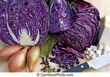 cooking blue cabbage