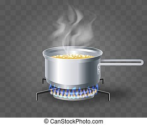 Cooking boiling soup water