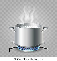 Cooking boiling water