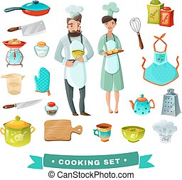 Cooking Cartoon Set