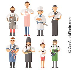 cooking chefs people illustration