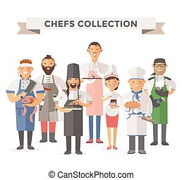 cooking chefs people vector illustration