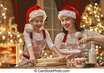 cooking Christmas cookies - Merry Christmas and Happy...