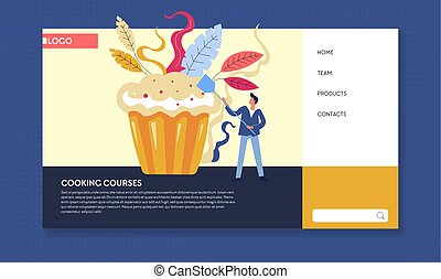 Cooking courses baking classes online web page template