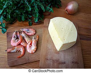 Cooking dandelion shrimp cheese rolls tortillas
