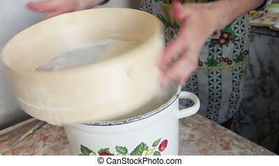 Cooking Dough Food on the Home Kitchen