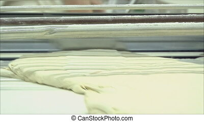 cooking dough in the factory