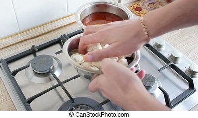 cooking dumplings