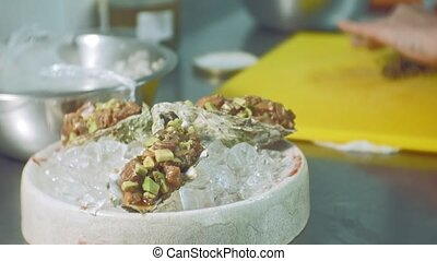 cooking fish dishes in the kitchen - food, small business...