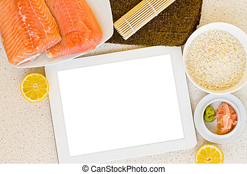 cooking fish with tablet