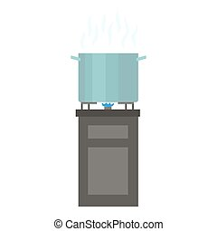 Cooking food icon, flat style