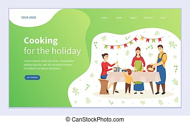 Cooking for Holiday Table at Christmas Website