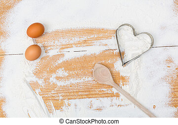 cooking frame with heart