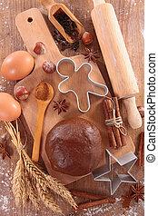 cooking gingerbread cookie