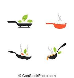 Cooking icon logo creative