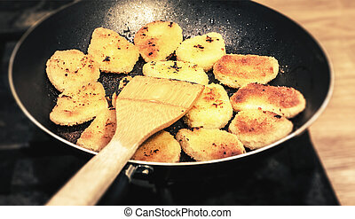 cooking in frypan