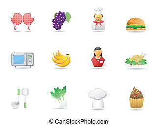 cooking ingredient and Restaurant icons