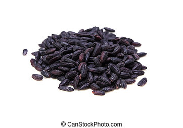 Cooking ingredient series black rice. for adv etc. of restaurant, grocery, and others.