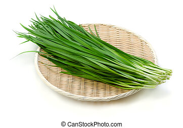 garlic chives - Cooking ingredient series garlic chives. for...