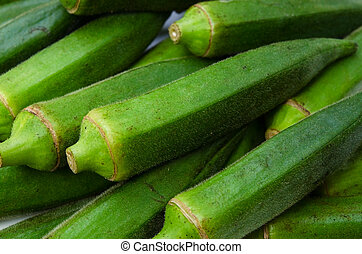 okra - Cooking ingredient series okra. for adv etc. of ...