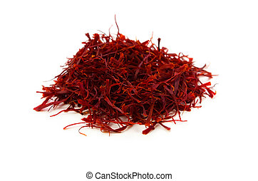 Cooking ingredient series saffron. for adv etc. of restaurant, grocery, and others.