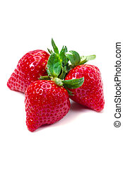 Cooking ingredient series strawberry. available for clipping work.