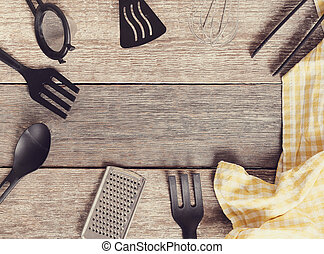 Kitchen utensil - Cooking. Kitchen utensil on the table