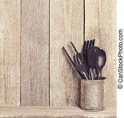 Kitchen utensil - Cooking. Kitchen utensil on the table