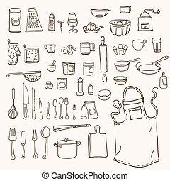 Kitchen utensils collection