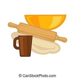 Cooking kitchenware vector baking utensils