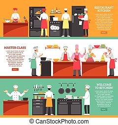 Cooking Master Class Horizontal Banners - Professional...