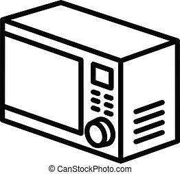 Cooking microwave icon, outline style