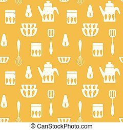 Cooking monochrome repetitive background for kitchen.