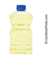 Cooking Oil - Bottle of vegetable cooking oil isolated on ...