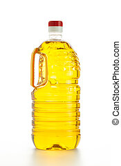 Cooking oil - Close up of cooking oil on white background