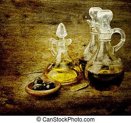 cooking oil, en, azijn