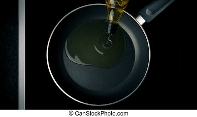 Cooking Oil Poured In Pan