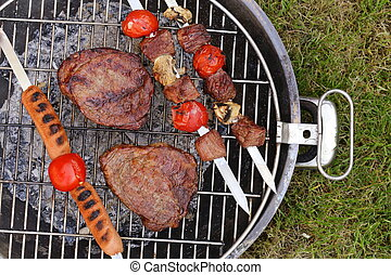 Cooking on the barbecue grill