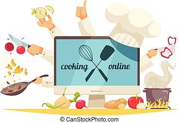 Cooking Online Concept