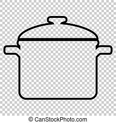 Cooking pan sign