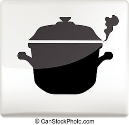 cooking pan symbol icon design element
