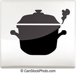 cooking pan symbol icon design element