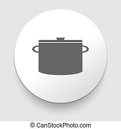 Cooking pan symbol. Sign or icon. Vector