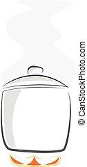 cooking pictogram vector pan symbol